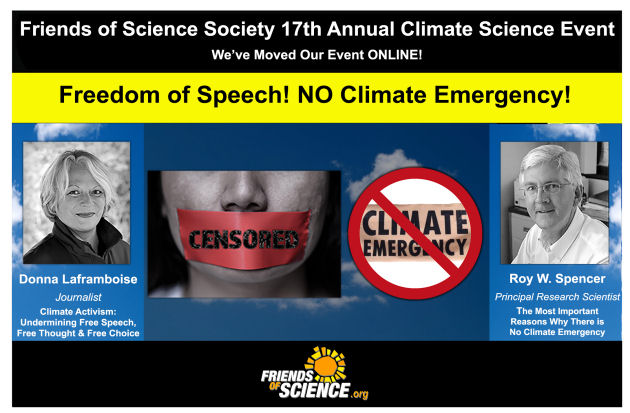 FoS 17th Annual Climate Event: Freedom of Speech! NO Climate Emergency!